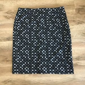 Halogen Pencil Skirt Geometric Print Size 10